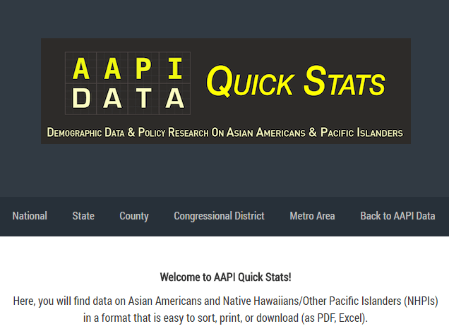 Asian Americans and Pacific Islanders (AAPI) Quick Stats