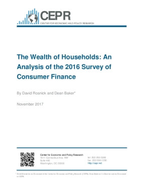 The Wealth of Households: An Analysis of the 2016 Survey of Consumer Finance