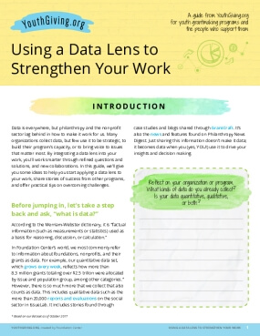 Using a Data Lens to Strengthen Your Work