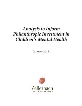 Analysis to Inform Philanthropic Investment in Children's Mental Health